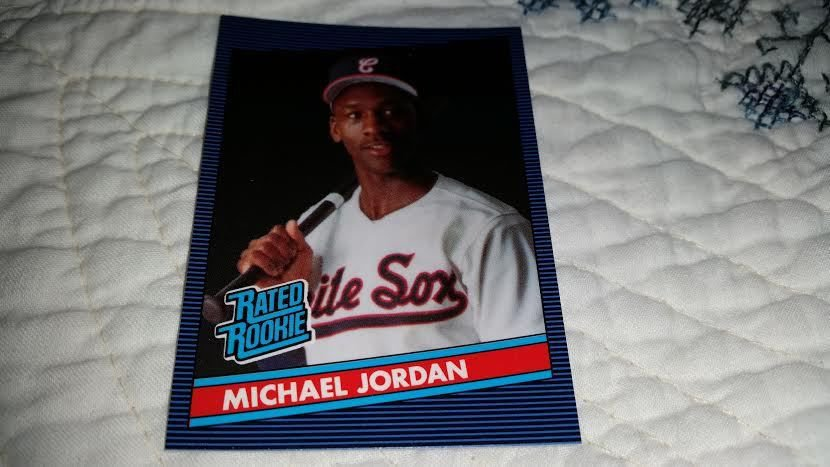 1990 MICHAEL JORDAN RATED ROOKIE 1986 DONRUSS STYLE ORIGINAL BASEBALL CARD