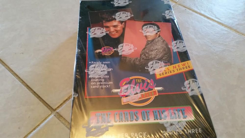 ELVIS PRESLEY 1992 THE CARDS OF HIS LIFE-SERIES.3 TRADING CARD BOX-CASE FRESH