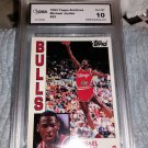 1981-91 TOPPS BASKETBALL-MICHAEL JORDAN 1ST TOPPS ROOKIE CARD GRADED GMA 10 MINT