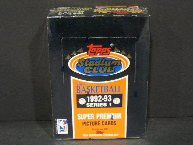 1992-93 TOPPS STADIUM CLUB SERIES 1 SEALED HOBBY BASKETBALL BOX POSS.M JORDAN