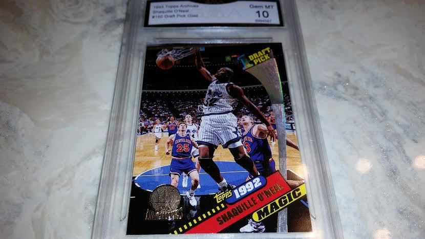 1992-93 TOPPS ARCHIVES BASKETBALL CARD SHAQUILLE ONEIL ROOKIE GEM MINT 10 GOLD