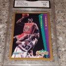 1992-93 FLEER MICHAEL JORDAN  SLAM DUNK BASKETBALL CARD GRADED GEM MINT 10 PSA ?