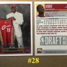 2003-04 TOPPS LEBRON JAMES ROOKIE REPRINT BASKETBALL CARD QTY .100