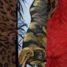 TATTOO Leather Guitar strap Asian oni tiger clouds adjustable handmade