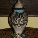 Custom Memorial CERAMIC SMALL Pet urn for CAT ashes ash Cats DAY of the DEAD