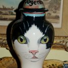 Custom CERAMIC SMALL Pet urn for CAT ashes black white CAT PETS Cats ALL breeds