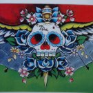 Ltd. Ed s/n Tattoo Day of the Dead PRINT Skull 8x10
