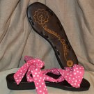 Rockabilly pin up pink and white polka dot sandals 7