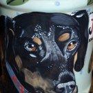 Tattoo DOG Doggie Cookie Jar Doberman Cannister tall food storage ceramic custom