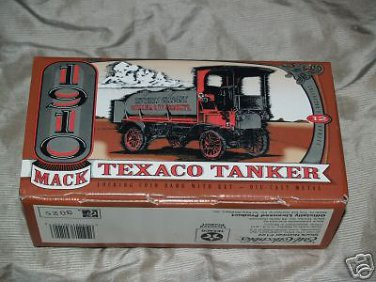Texaco Die Cast 1910 mack tanker BANK # 12 in BOX MIB