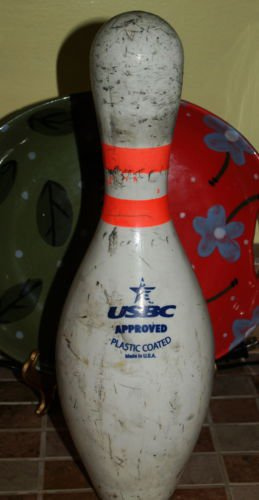 AMFLITE Official Full Size Bowling Pin USBC approved plastic coated Crafts Shoot