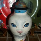 Custom CERAMIC SMALL Pet urn for CAT ashes WHITE CAT PETS Cats ALL breeds DOD