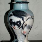 Custom SMALL Pet urn for cats ferrets cremation urns handmade 2 pets hand paint