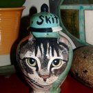 Custom SMALL Pet urn for CAT ashes Tabby domestic PETS Cats ALL breeds Any pet