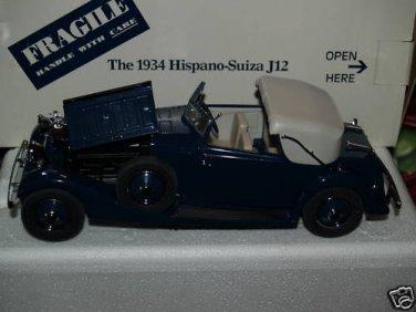 Danbury Mint 1934 Hispano Suiza J12 RARE MIB gorgeous die cast made beautifully