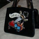 VintageTATTOO handbag purse sailor DICE Dagger Unlucky