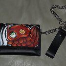Custom TATTOO leather wallet sailor KOI Japanese TRI Fold Wallet painting rare