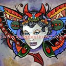 Ltd. Edition s/n Tattoo pin up print butterfly wings