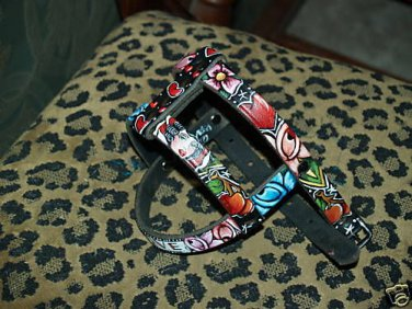 Tattoo Leather DOG HARNESS anchor skull SPARROW YORKIE