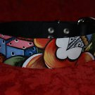 Sailor Leather DOG cat collar Rose dagger dice skull SM