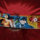 Custom TATTOO Leather Guitar strap Super Hero GRIFFIN comic heros super man adj