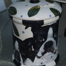 Tattoo DOG canister Cookie Jar Boston Terrier X lrg