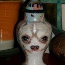 Custom ceramic Pet urn for ashes chihuahua urn small pet memorial sm jar ash