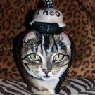 Custom ceramic Pet urn 4 ashes DOG Cat cremation urn SMALL pets burial funerary