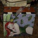 TATTOO handbag purse recling WOMAN Cigar Box Matisse