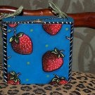 TATTOO handbag purse box sailor STRAWBERRIES strawberry