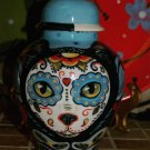 Custom DAY of the DEAD SMALL Pet urn for CAT ashes PETS Cats ALL animals DOD