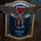 Michelob light BEER sign EAGLE lighted mirror 1987 RARE insignia drinking bar