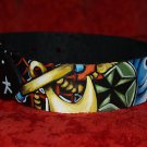 2 Tattoo Leather DOG collars custom order 20 inch necks leather any breed sailor