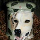 Tattoo Custom Ceramic DOG TREAT Cookie Jar Golden Retriever any BREED lrg Blonde