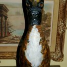 Hand PAINTED Bowling Pin of your pet Dog ALL BREEDS bull dog any Dog BOXER ART