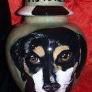 Custom ceramic memorial Pet URN DOG cremation all types of breeds Unique medium