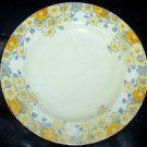 Antique CROWN Staffordshire yellow flora salad plates 5