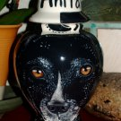 Custom Portrait MEMORIAL Pet URN DOG hound cremation ASH Hand Painted ALL Breeds