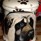 Custom Pet DOG mastiff bull cremation urn all breed types portrait jar