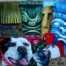 CUSTOM TIKI dog Portrait pet portrait of your dogs cat 8 x 10 CANVAS parrot rat
