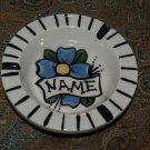 Vintage tattoo sailor ceramic ASHTRAY flower RARE !