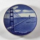1939 ROYAL COPENHAGEN WORLDS FAIR SAN FRANCISCO EXPO SOUVENIR GOLDEN GATE BRIDGE