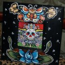 TATTOO frame sailor SKULL Day of the dead FRAME Kahlo