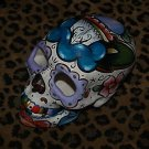 TATTOO Day of the DEAD SKULL Sailor Rose Dagger Skulls DOD Mexico hand painted