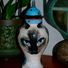 Custom Memorial CERAMIC SMALL Pet urn for CAT ashes ash Cats siamese portrait