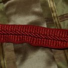 VINTAGE ITALIAN Designer border trim 3 1/2 YARD RED