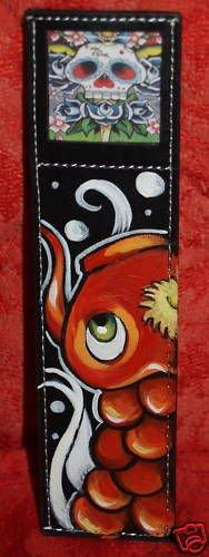 Tattoo Koi Bookmark books asian fish theme skull wings