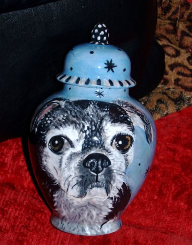 Custom Pet urn for ashes PUG DOG cremation urns SMALL