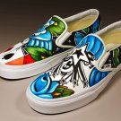 Custom TATTOO hand painted WOmens mens ANY size VANS Sailor abstract cards vegas