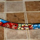Tattoo Leather DOG collar KOI ASIAN WAVES 14 inches blue clouds flowers custom